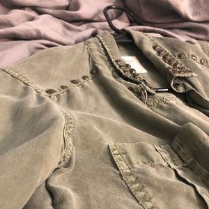 Abercrombie & Fitch khaki shirt